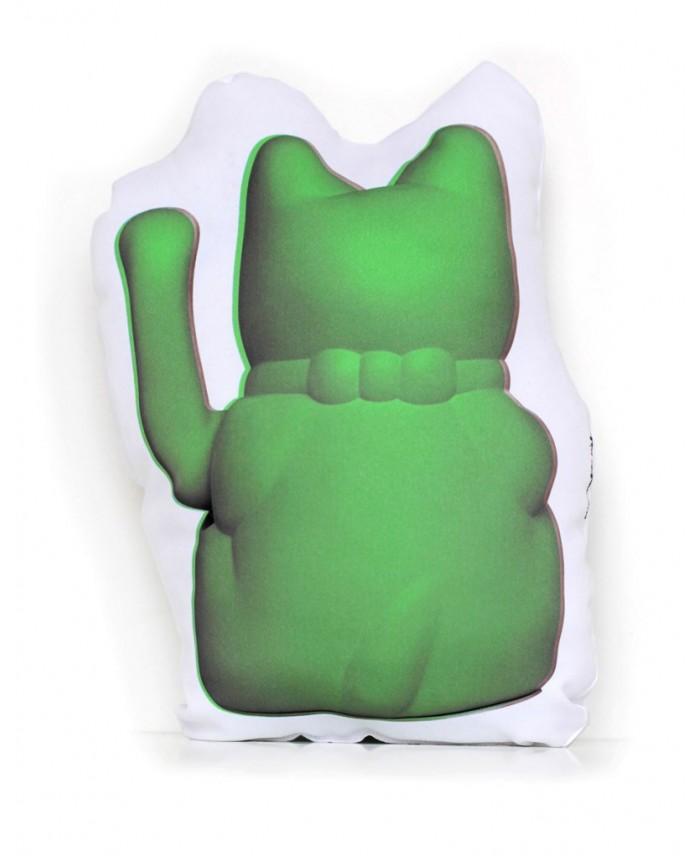 Cojín Gatete Diminuto Cielo Verde Hulk