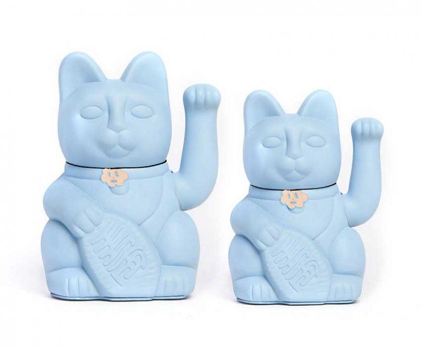 Lucky cat color azul claro