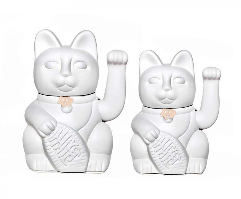 Lucky cat color blanco