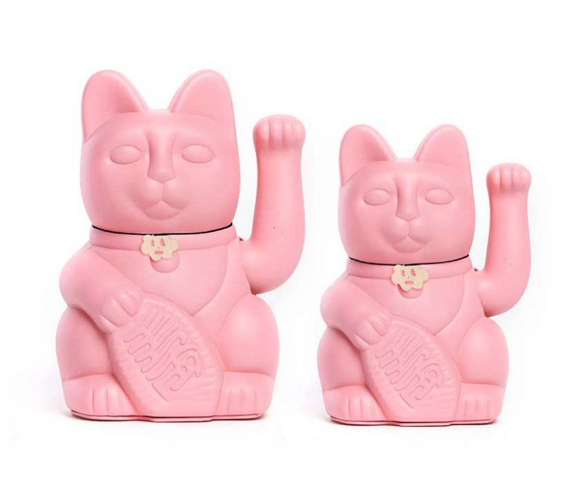 Lucky cat color rosa chicle