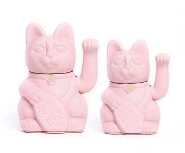 Lucky cat color rosa claro