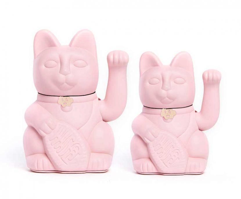 Lucky cat color rosa claro