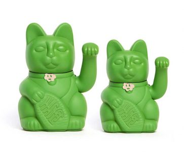 Lucky cat color verde Hulk