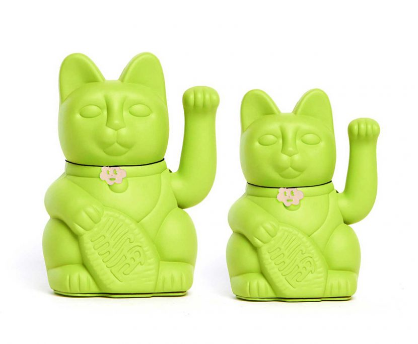 Lucky cat verde claro